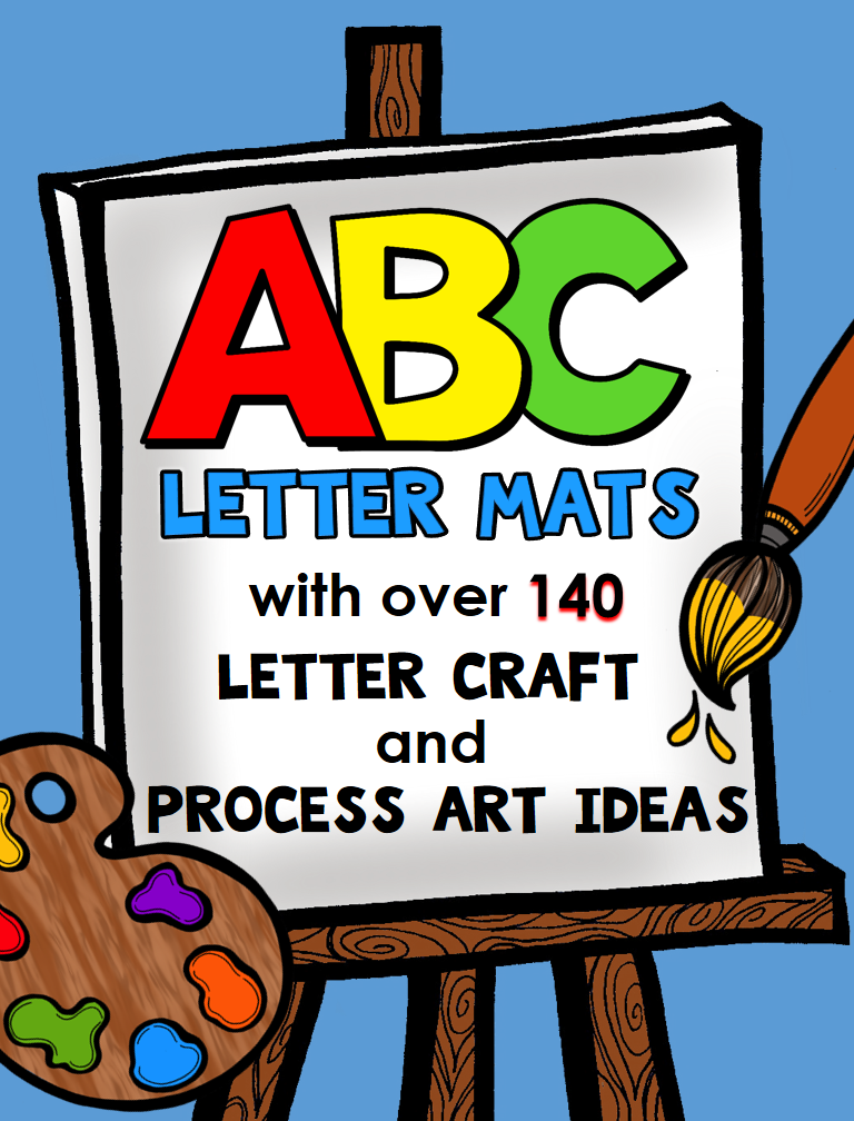 ABC Letter Mats with 140+ Letter Craft and Alphabet Process Art Ideas for Preschool