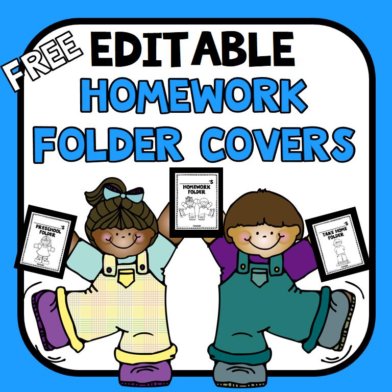 Preschool Homework Folder Cover Template