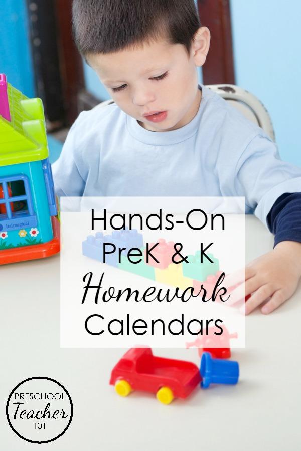 Editable, Printable Homework Calendars for Preschool