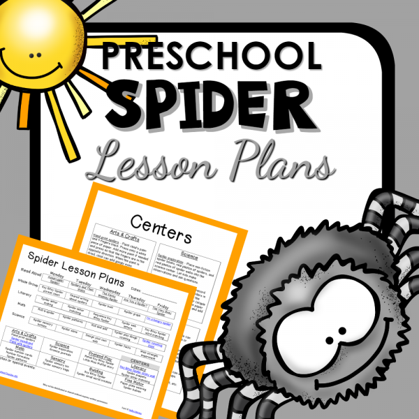 Preschool Spider Theme Lesson Plans