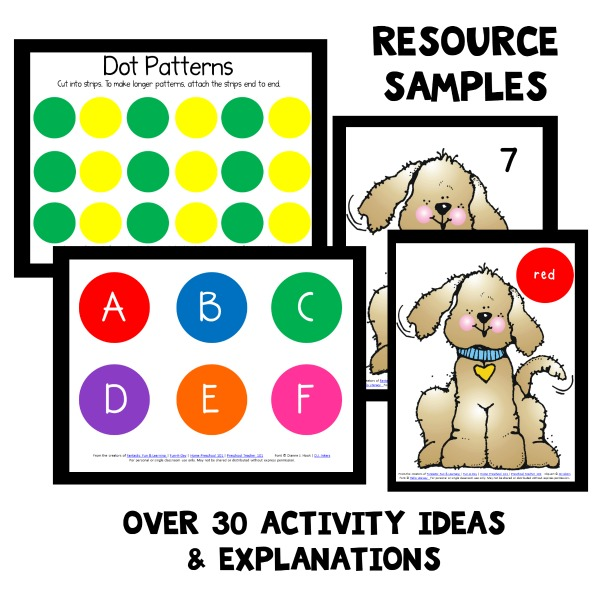 Resource Samples for Dot Theme Preschool Lessons
