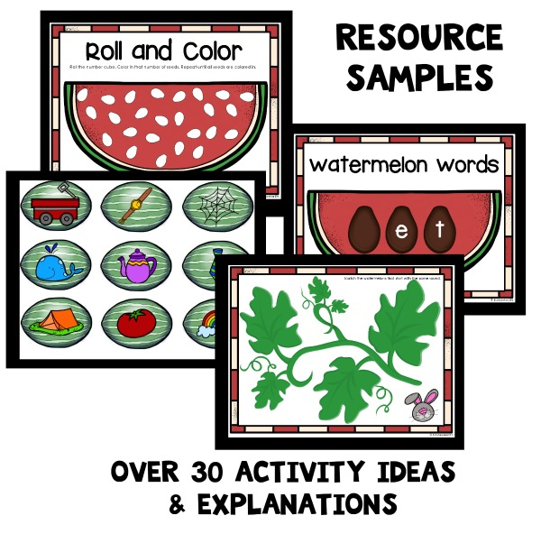 Printable Watermelon Activities for Preschool