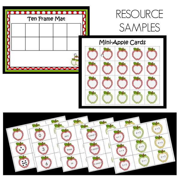 Apple Task Cards Sample Resources