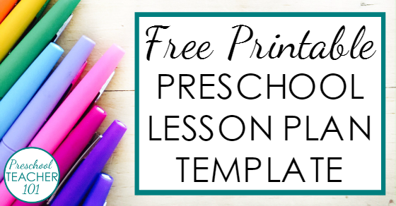preschool lesson plan template for weekly planning preschool teacher 101