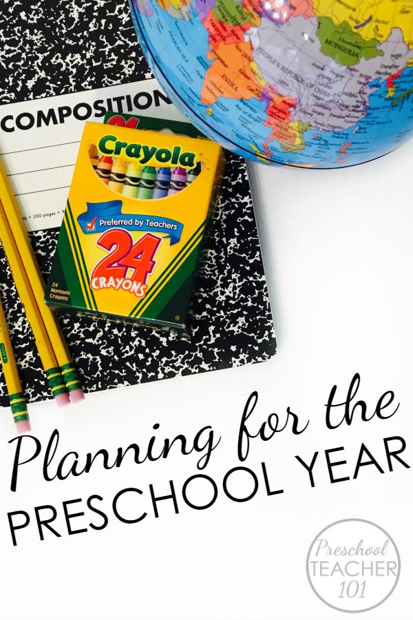 Preschool planning for the school year - Important ideas to consider when planning for the preschool year