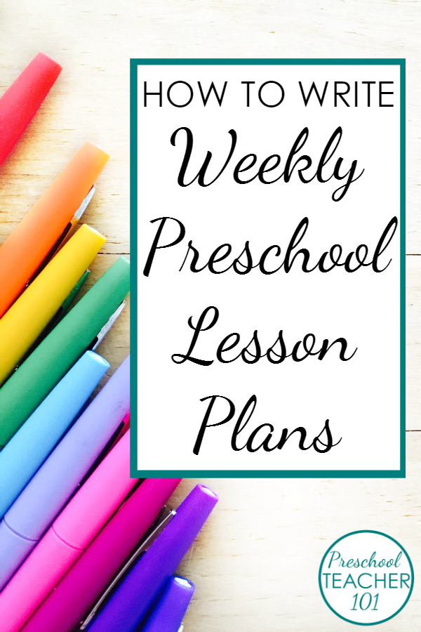 Use this free preschool lesson plan template to help you write your weekly preschool lesson plans