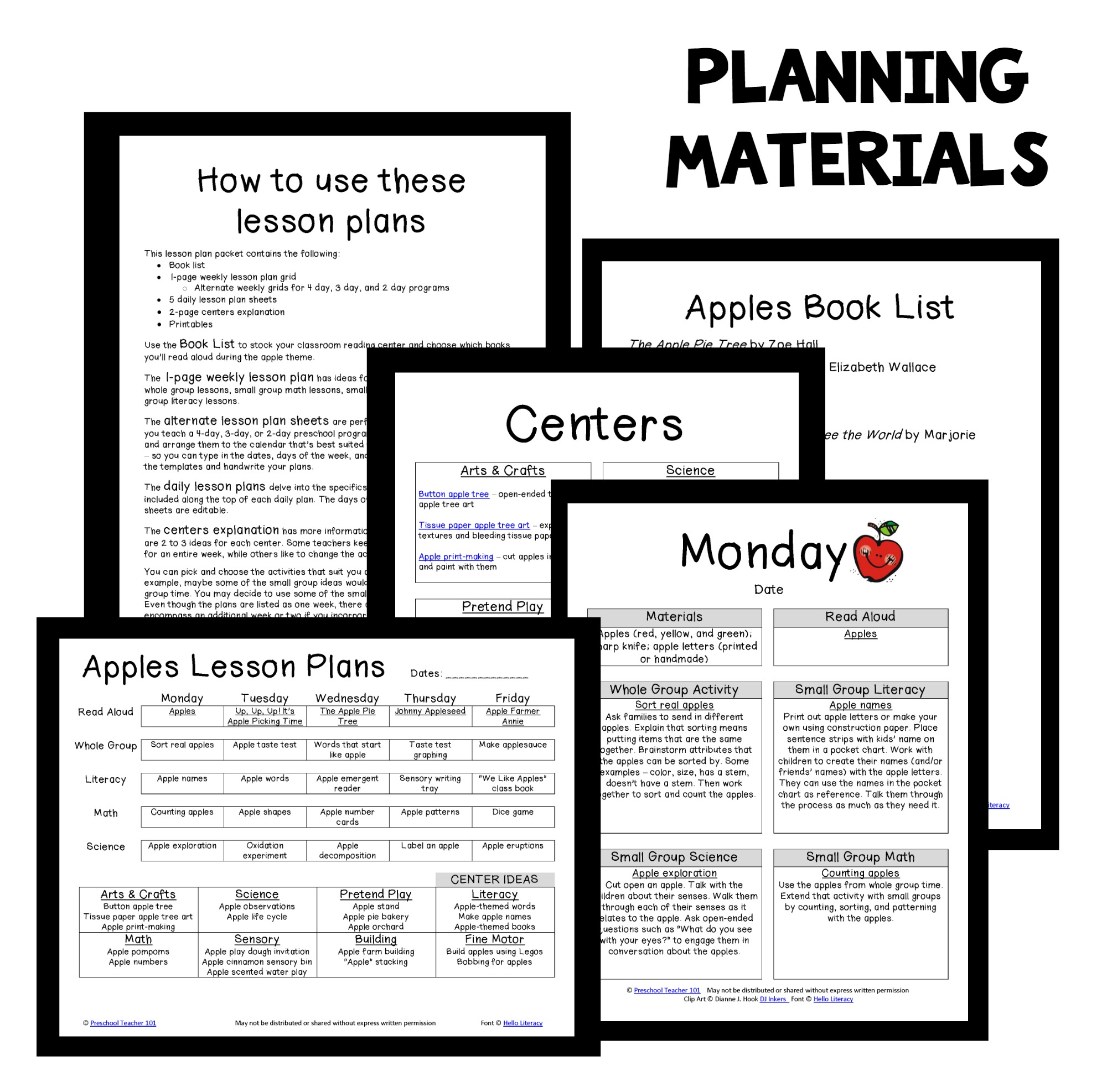 Apple theme preschool classroom lesson plans preschool for Waste material activity