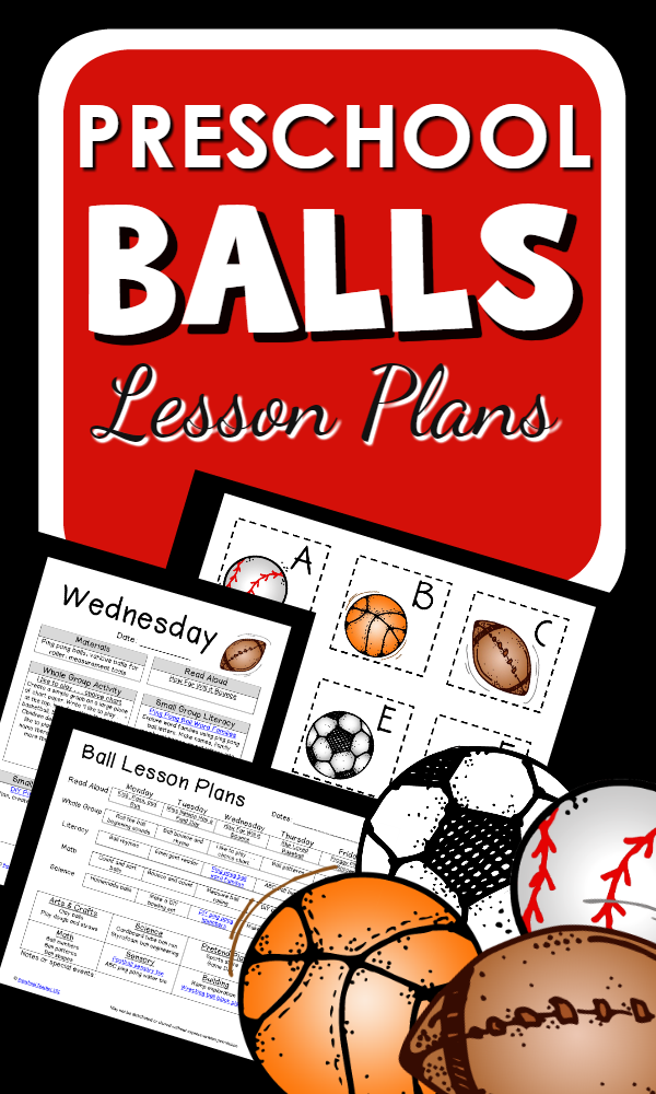 Balls Theme Preschool Lesson Plans with hands-on activities STEM explorations and more