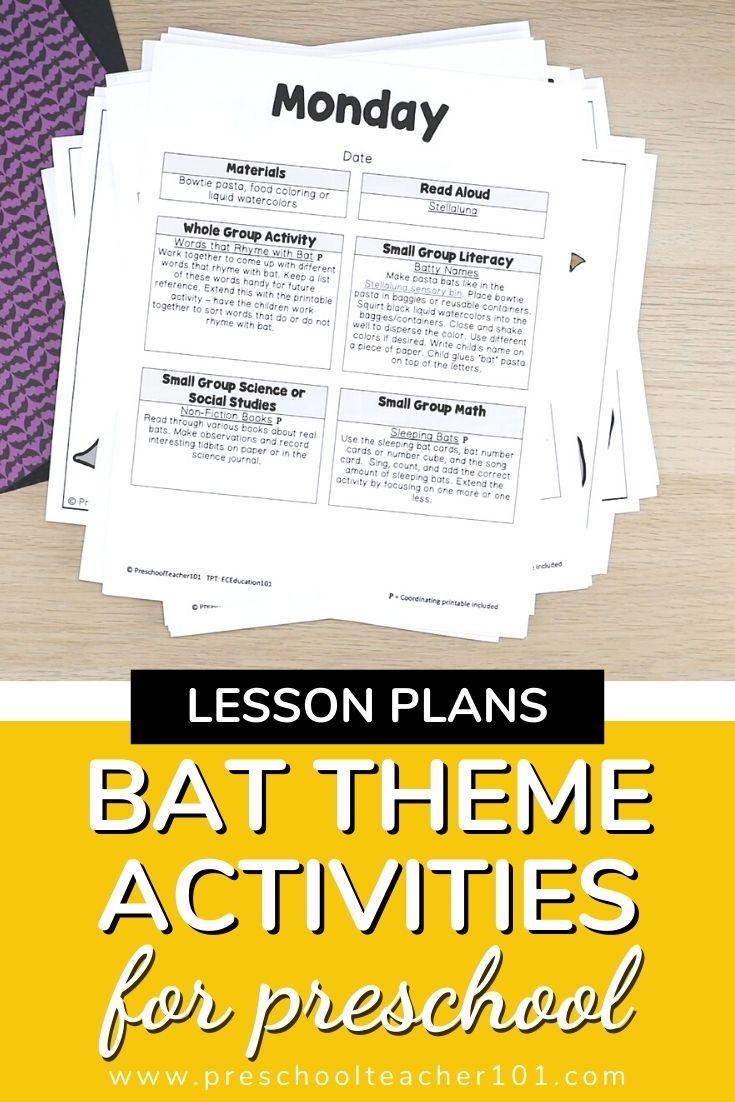 Bat Theme Activities for Preschool