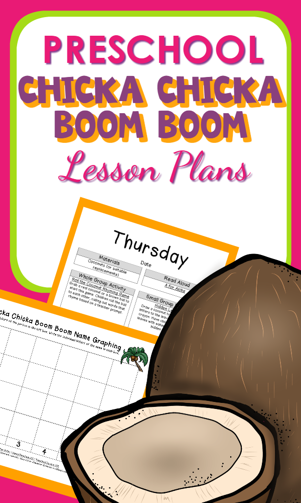 Printable Preschool Lesson Plans for the book Chicka Chicka Boom-Over 30 activity ideas!