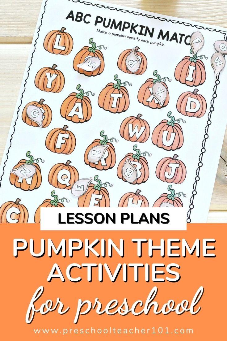 Pumpkin Theme Activities for Preschool