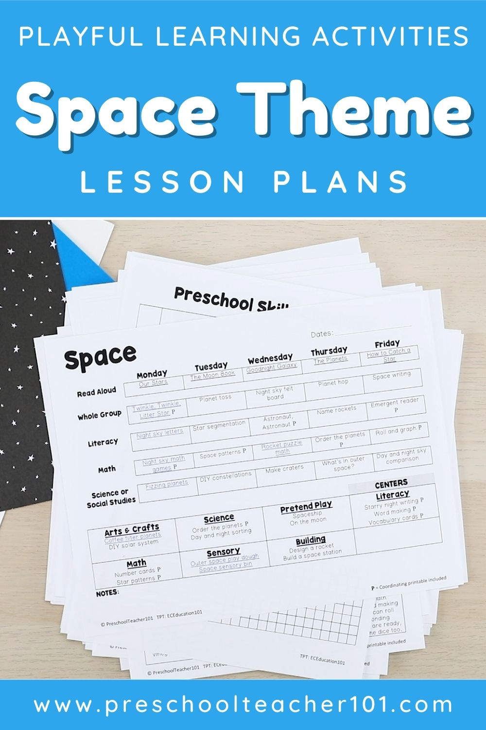 Playful Learning Activities - Space Theme