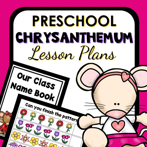 Preschool Chrysanthemum Book Based Lesson Plans and Name Activities - Cover