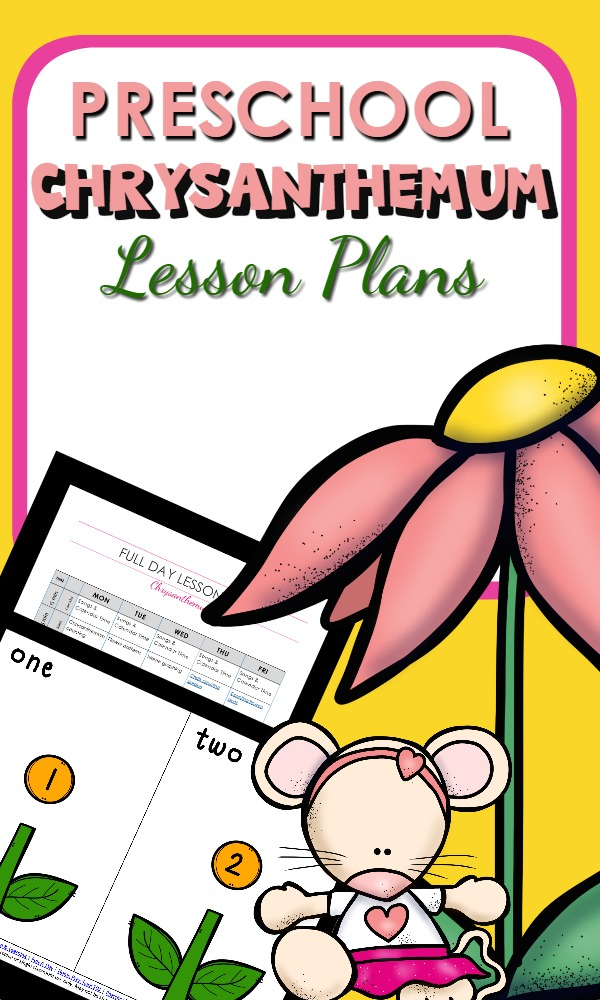 Preschool Lesson Plans with activities to go with Chrysanthemum by Kevin Henkes-Over 30 hands-on learning and play ideas for preschool classrooms