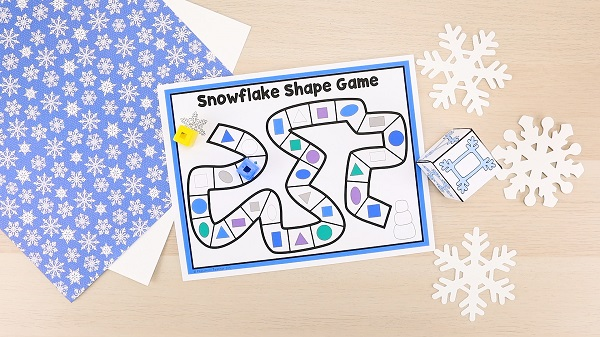 Snowflakes Lesson Plans-Preschool Snowflake Activities-Winter Math Game