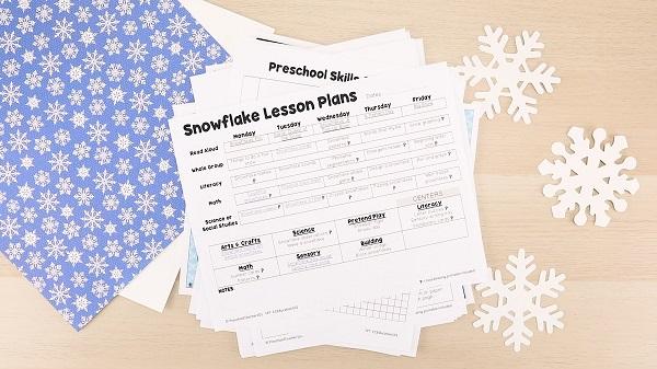 Snowflakes Lesson Plans-Preschool Snowflake Activities