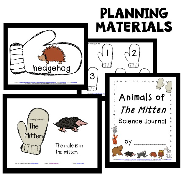 The Mitten Printables for Preschool