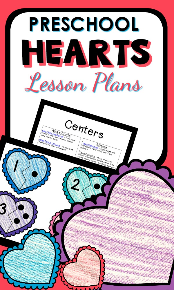 Preschool Heart Theme Activities and Printable Lesson Plans for Valentine's Day