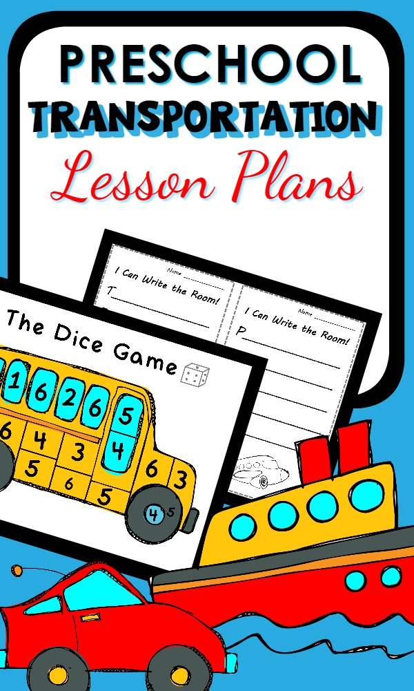 Classroom Design Activities ~ Transportation theme preschool classroom lesson plans
