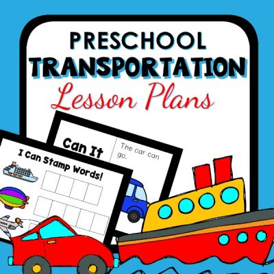 Preschool Transportation Lesson Plans