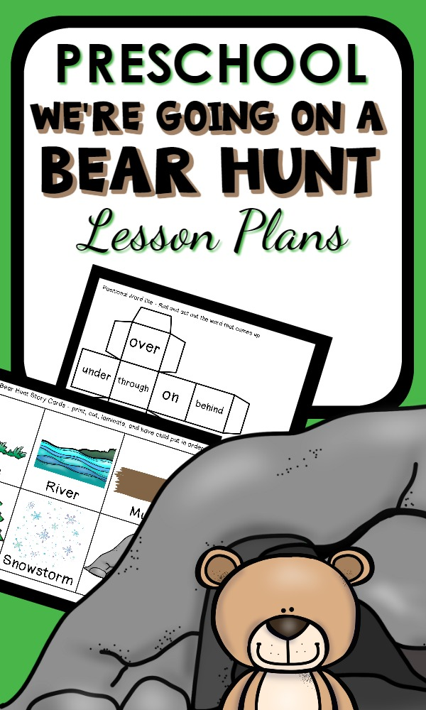 We're Going on a Bear Hunt Preschool Lesson Plans...math, reading, science activities and more