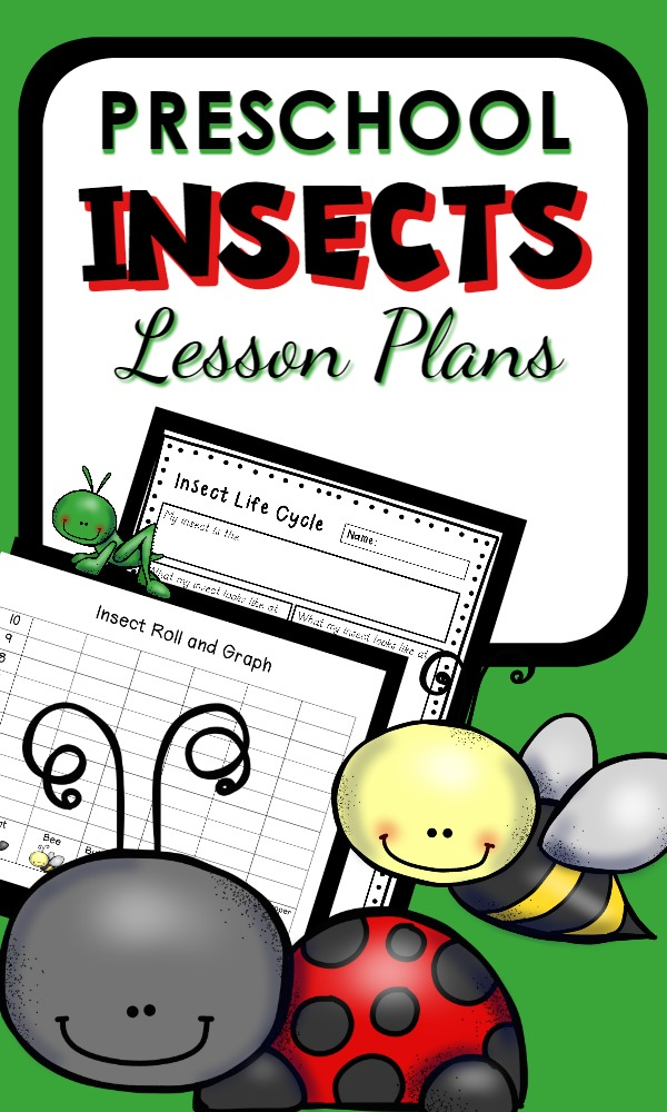 Learn about bugs in this preschool insect theme lesson plan set full of playful bug activities. Editable weekly lesson plan formats included