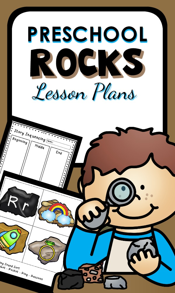 Preschool Rocks Lesson Plans-Learn about rocks and use them for hands-on math, reading, and science activities
