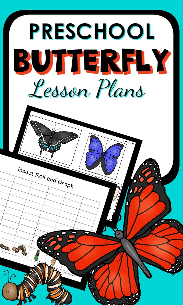 Preschool Butterfly Theme Lesson Plans with over 30 butterfly activities for reading, math, science, art and sensory play