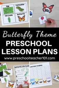 Preschool Butterfly Theme Lesson Plans