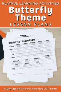 Preschool Lesson Plans - Butterfly Theme