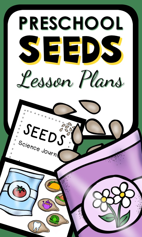 Seed Theme Preschool Lesson Plans-a week full of seed activities including ideas for reading, math, science, sensory play and more