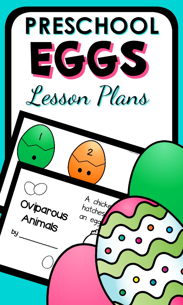 Preschool Egg Theme Lesson Plan Set-Includes activities for learning about oviparous animals, patterning, sorting, letter matching and more. Could be used as part of an Easter theme or a separate letter E or science study