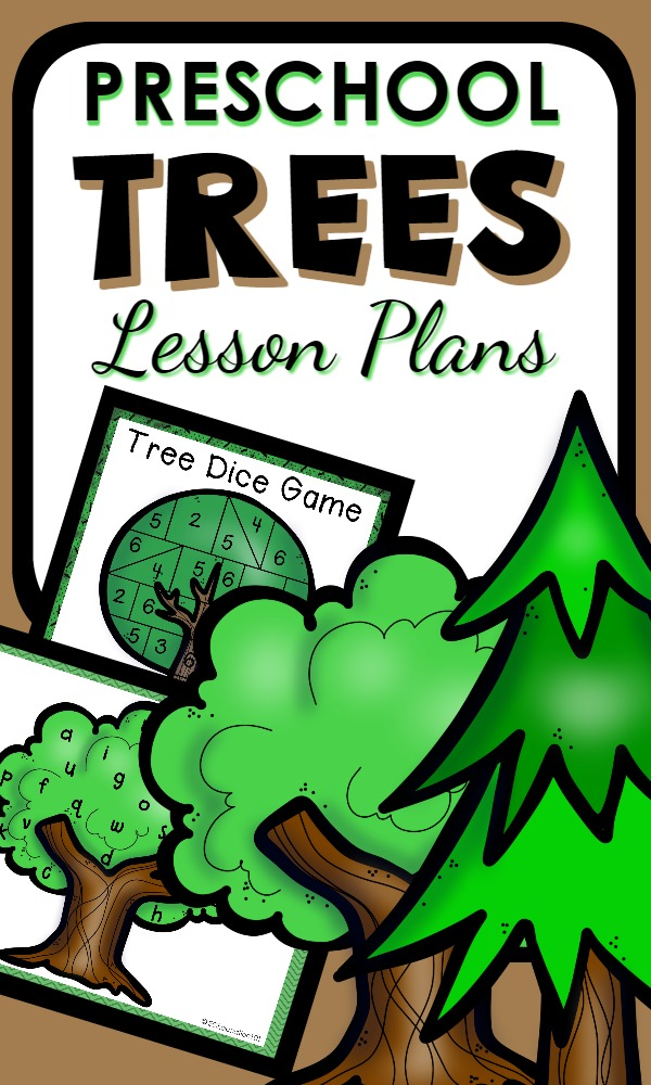 Tree Theme Preschool Lesson Plans with over 30 hands-on activities and printables