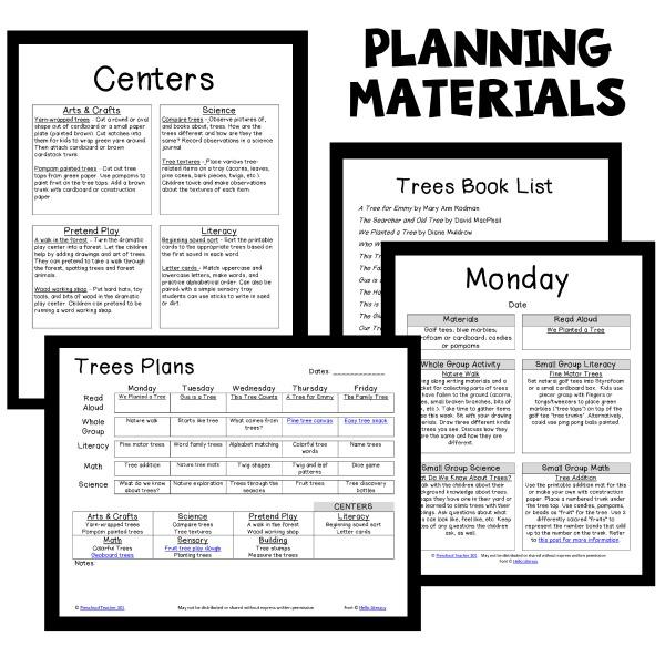 Classroom Ideas Theme ~ Tree theme preschool classroom lesson plans