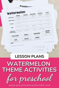Lesson Plans - Watermelon Theme Activities