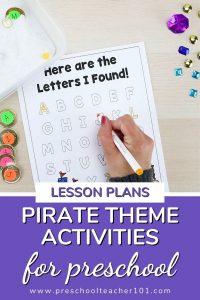 Pirate Theme Activities for Preschool