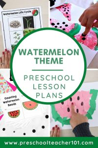Preschool Lesson Plans - Watermelon Theme