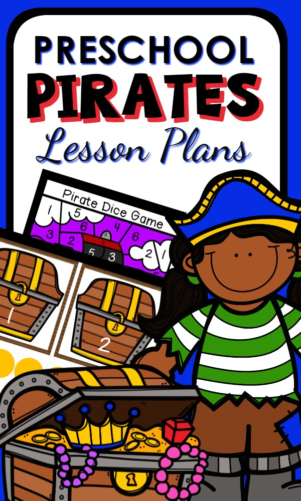 Preschool Pirate Theme Lesson Plans full of pirate activities for preschoolers