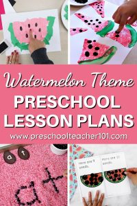 Watermelon Theme Preschool Lesson Plans