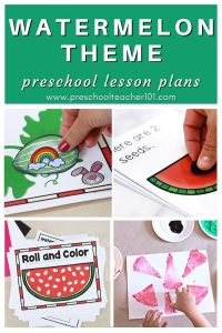 Watermelon Theme - Preschool Lesson Plans