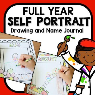 Self Portrait Journal for Pre-K and Kindergarten