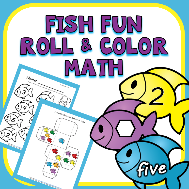 Fish Roll and Color Math Games - Preschool Teacher 101