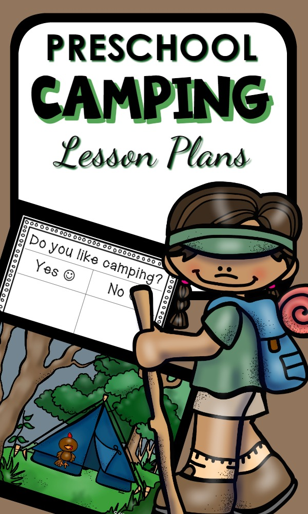 Preschool Camping Theme Lesson Plans-Printable activity guide and camping activities for the preschool classroom