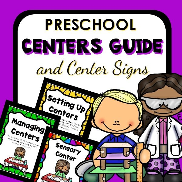 Preschool Centers Guide With Center Signs
