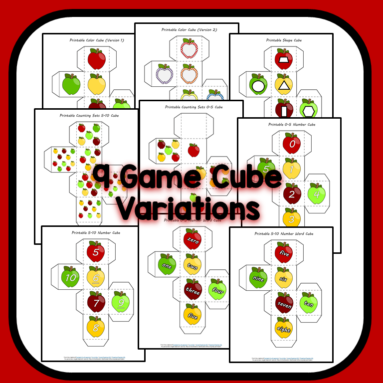 Fall Apple Math Games-Game Cubes