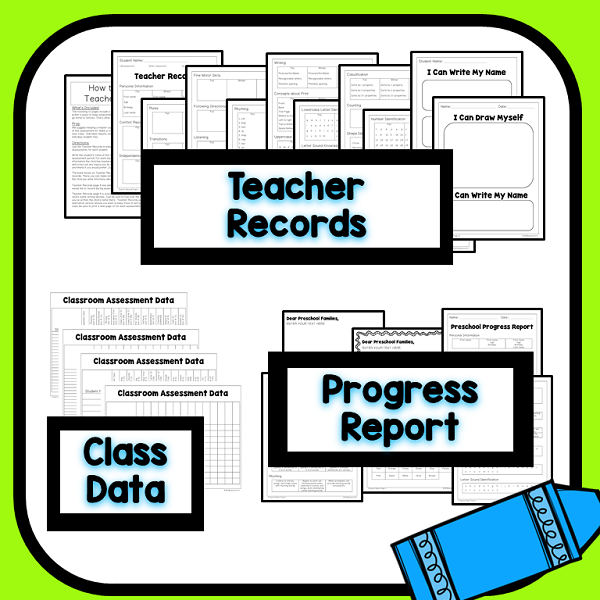 Teacher Data Sheets and Progress Reports