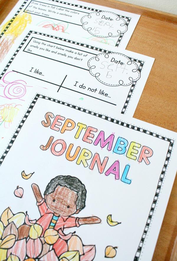 journal pages - Kindergarten Writing Journals