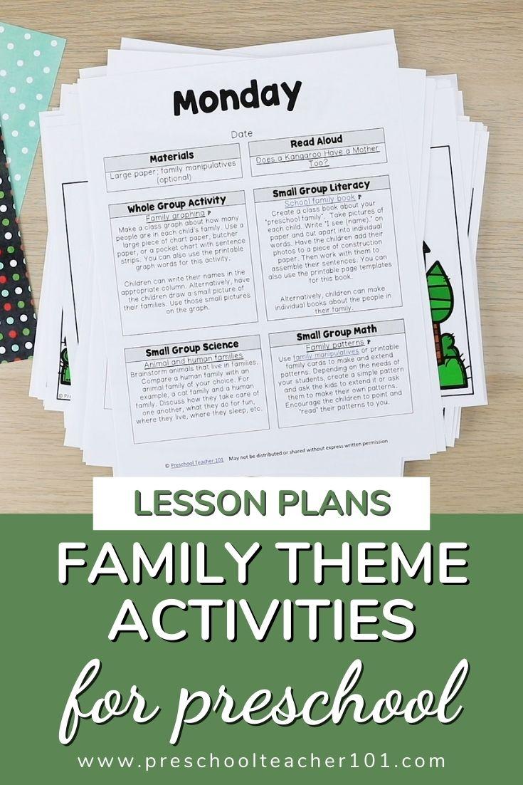 Family Theme Activities
