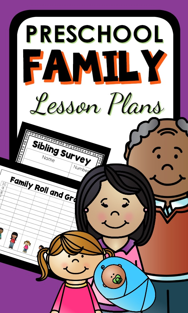 Preschool Family Theme Lesson Plans with learning activities for an all about me and all about my family unit in preschool