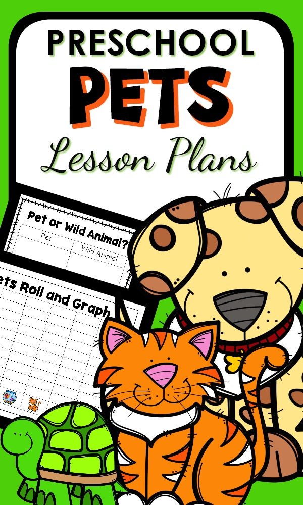 Preschool Pet Theme Activities with pet theme lesson plans, printables, and hands-on play activities